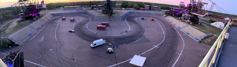 racetrack for video shoot